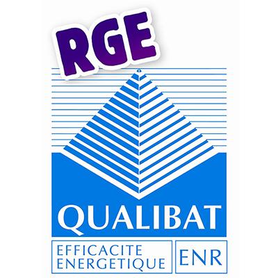 logo Qulibat RGE bleu avec une pyramide pour une reconnaissance des compétences dans un domaine spécifique