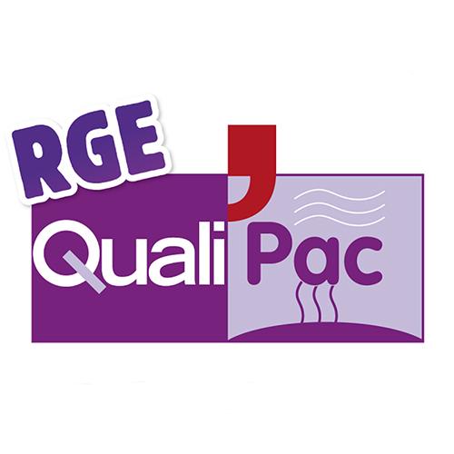 logo violet quali rge pour les pompes à chaleur DCME