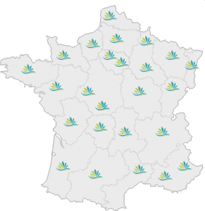 carte de France implantation DCME